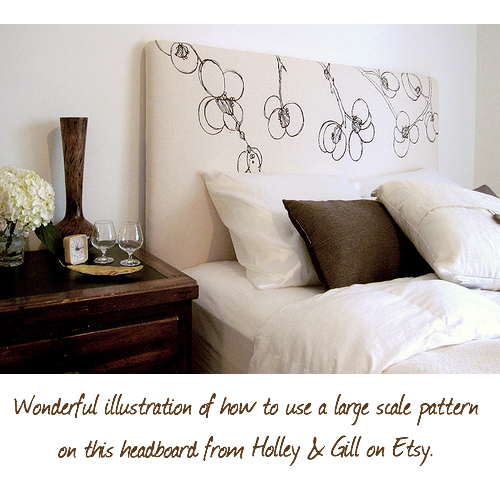 headboard from Holley and Gill on etsy