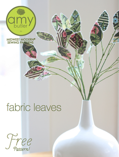 amy butler free pattern fabric leaves