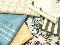 collection of fabrics for decorating my sunroom