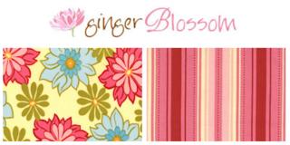 Ginger blossom fabric