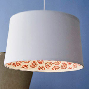 fabric lined drum shade