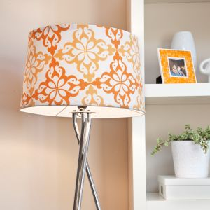 orange fabric shade