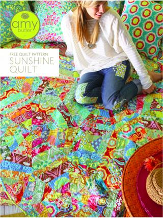 Amy Butler Soul Blossoms sunshine quilt