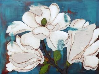 laura gunn magnolia painting