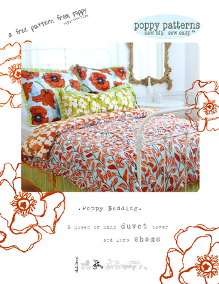 poppy bedding pattern